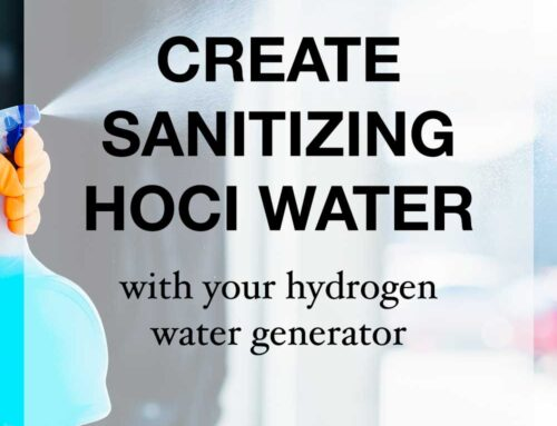 Create your own sanitizing water with Qlife Hydrogen Water Generators